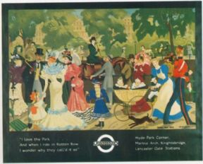Vintage London underground poster - I love the park